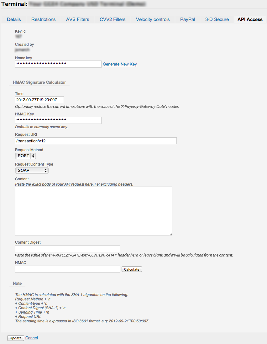 API Security - HMAC Hash – Payeezy Knowledge Base