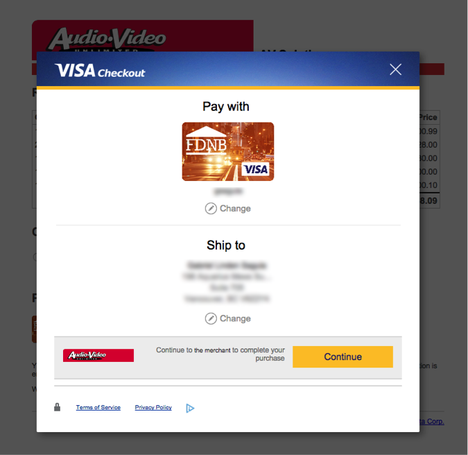 Visa checkout integration guide payeezy knowledge base credit card brand will be presented according the customers registered credit card with visa checkout thecheapjerseys Image collections